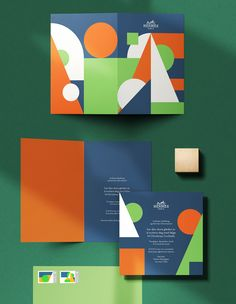 Colorful Postcard - Luxurious fashion house Hermes launches a stationery product collection that features stunning, artistically motivated colorful postcards. Web Design, Id Card Design, Print Design, Corporate Design, Branding Design, Logo Design, Tank Design, Geometric Shapes Drawing, Cover Design