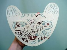 paper panther mask by Sarah Andreacchio via Etsy
