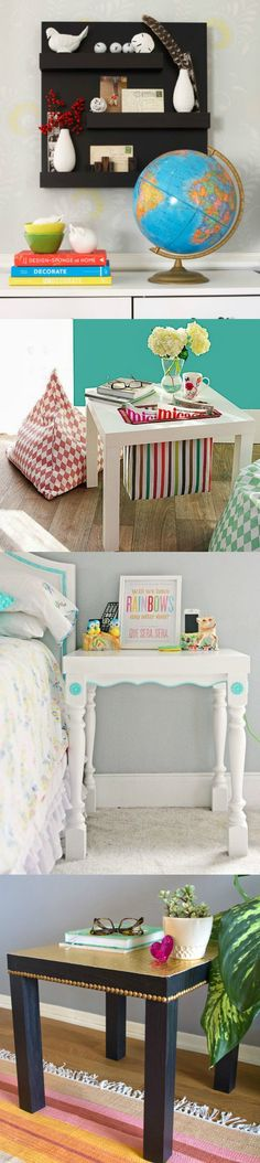 20 hacks made with the IKEA Lack - it's amazing what you can do with this inexpensive side table!