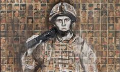 Faces of the Fallen. Arabella Dorman's ghostly portrait of a soldier painted over a collage of hundreds of photographs of soldiers killed in Afghanistan. A Level Art Sketchbook, Textiles Sketchbook, Sketchbook Pages, Sketchbook Ideas, Ww1 Art, Political Art, My Tumblr, Beauty Art, The Guardian