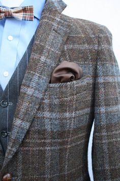 Vintage 1980's Ralph Lauran Scottish Wool Tweed by ViVifyVintage,