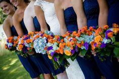 Navy Blue And Orange Wedding - Bing Images