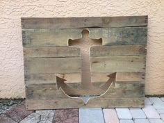 Anchor made from reclaimed pallets by PalletsbyJeff on Etsy, $75.00