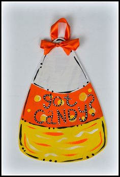 Candy Corn Door Hanger Candy Corn Decoration by PricklyPaw on Etsy