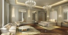 Beautiful Classical Bedroom Max by UsmaanMukhtar on Beautiful Interior Design, Dream Home Design, Luxury Interior Design, Rich Girl Bedroom, Fancy Bedroom, Bedroom Bed, Pool Bedroom, Modern Bedroom Design, Master Bedroom Design