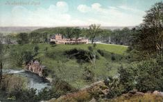 An Edwardian postcard showing the deerhouse above the River Gaunless in Auckland Park. Auckland Castle, Grieving Daughter, Wild Bull, Religious Tolerance, Bishop Auckland, 12 Tribes Of Israel, Marble Columns, Catherine Of Aragon, Throne Room
