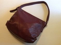 "VTG 1970's ""TRIO of CALIFORNIA Large Hobo Leather Duffel / Bucket Purse Bag #TrioofCalifornia #Hobo"