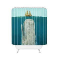 This fun piece is a great way to add waterproof artwork to your bathroom. Bring modern, nautical life to your shower with the high-quality Below Deck Shower Curtain. Made from 100% woven polyester, it can be machine washed and dried for easy care.