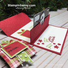pop up gift card holder, nothing sweeter, stampin up, stampin savvy, tammy beard