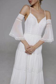 Visit the post for more. Open Back Wedding Dress, Wedding Dress Train, Wedding Dress Chiffon, Used Wedding Dresses, Chiffon Skirt, Unique Dresses, Beautiful Dresses, Dress Bar, Lace Dress