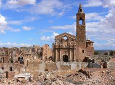 Spanish village left in ruins