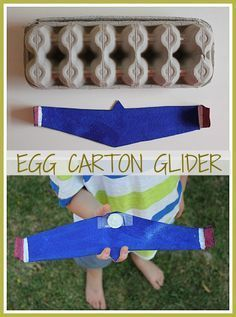 Egg Carton Gliders! Paper airplanes are so much fun. What child (or adult for that matter!) doesn't love the thrill of launching a DIY plane and seeing it glide through the air. - One Perfect Day #STEM #Glider #Aviation