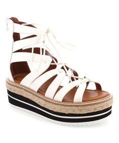 Another great find on #zulily! White Echos Leather Sandal #zulilyfinds