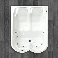 BANHEIRA JASPE DUPLA ACOMODAÇÃO COM HIDRO 1,78 X 1,40 X 0,50 Com um belo design que oferece conforto e bem estar, a Banheira Jaspe é fabricada com produtos de alta qualidade e acompanha os seguintes acessórios:     6 Jatos cromados 1 Entrada de água 1 Saída de água 1 Entrada de ar (arejador) 1 Sucção 1 Motor bomba 1/3 cv Tubulação de água dos bicos de hidromassagem Tubulação de ar dos bicos de hidromassagem