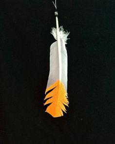 Large Neon Orange Horse Feather