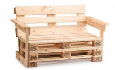arredare giardino bancali divano con braccioli - furnish garden pallets sofa with armrests