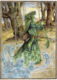 Pagan Art, Hobgoblin, Green Man, Ink Painting, Limited Edition Prints, Watercolor And Ink, Fantasy Art, Fantasy Paintings, Illustrators