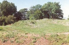 Long Buckby, England.  Remains of an old 'castle' of the motte (mound) and bailey (courtyard) type, built in about 1135, have been excavated.  Home of Saer de Quincy, Mike's 27th great-grandfather.