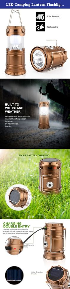 LED Camping Lantern Flashlights - Hurricane Emergency Tent Light - Backpacking, Hiking, Fishing, & Outdoor Lighting Bug Out Bag Camping Equipment | Portable, Compact, & Water Resistant Gift (Golden). Specification 1.TWO Power Supply: Environmental friendly solar powered charging,DC 5V(power). 2.MULTIPURPOSE:Suitable for indoors & outdoors, Hiking, Camping,Fishing,Emergencies, Hurricanes, Outages,Backpacking. 3.The lamp is collapsible and portable, offering you convenience when you need it...