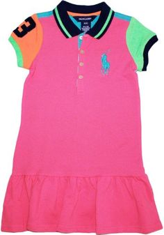 c280ccead Ralph Lauren Toddler Girls Big Pony Color Block Mesh Polo Dress - Listing  price: $49.50 Now: $42.00 + Free Shipping