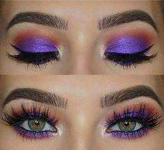 Stunning sparkly eye make up