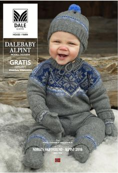 In NORWEGIAN - This pattern set includes Pullover, Pants, Hat, Socks and Mittens, and is part of Book 316 - Norwegian Ski Team - Alpine Baby Boy Knitting Patterns, Knitting For Kids, Baby Patterns, Free Knitting, Knit Baby Sweaters, Boys Sweaters, Baby Knits, Baby Barn, Baby Layette