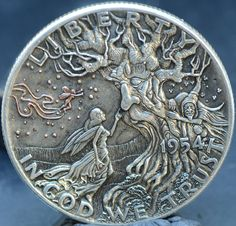 !!!!SOLD !!! Custom Coins, Hobo Nickel, Coin Art, Metal Clay Jewelry, Rare Coins, Coin Collecting, Hand Engraving, Silver Coins, Metal Art