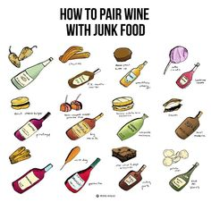 You can easily make some incredible junk food wine pairings, all you need to do is reach for the more unusual wines. Here are 12 kickass junk food wine pairings and why they work so you can make your own. Boot Camp, Sweet Champagne Brands, Wine Folly, Blue Fruits, Wine Guide, Wine Subscription, Sweet Wine, Types Of Wine, Wine