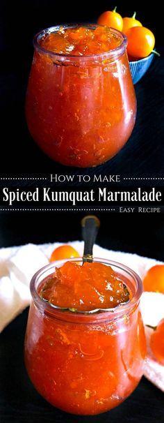How to Make Spiced Kumquat Marmalade (No Preservative Recipe) How to make a Kumquat Marmalade – Easy Recipe : Jelly Recipes, Jam Recipes, Recipies, Recipes Dinner, Potato Recipes, Drink Recipes, Pasta Recipes, Crockpot Recipes, Soup Recipes