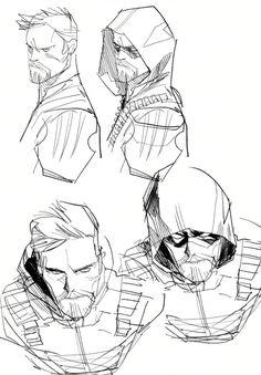Green Arrow concept art DC Rebirth. MY HUSBAND!! HE HAS HIS GOATEE BACK!! YAAAAASSSSSSSS
