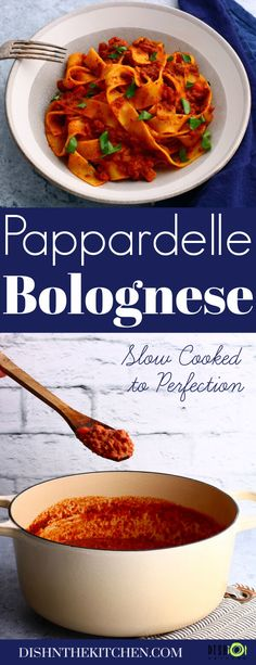 Create the perfect bowl of classic Pappardelle Bolognese with a slowly simmered rich meat sauce featuring beef, pancetta, soffritto, tomato paste, stock, and milk. #Bolgonese #raguallabolognese #meatsauce #pappardellebolognese #pasta #comfortfood Pasta Recipes, Dinner Recipes, Dinner Ideas, Bolognese, Mediterranean Recipes, International Recipes, Healthy Recipes, Delicious Recipes, Healthy Foods