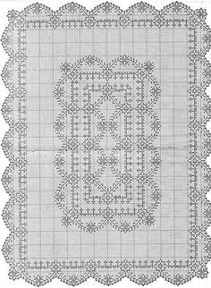 Kira scheme crochet: Scheme crochet no. Filet Crochet, Crochet Motif, Oblong Tablecloth, Crochet Tablecloth, Floral Border, Table Covers, Crochet Scarves, Cotton Thread, Cross Stitching