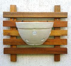 Painel + Vaso de Cerâmica para Orquídeas   Maia Casa e Jardim   Elo7