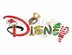 Disney Christmas Holiday image DIY Printable Iron On t shirt Transfer Instant Download