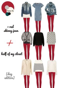 The grandma sweaters/shirts...not so much but the others are cute.Fall Outfits || Red jeans