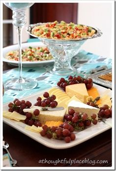 Cheese and Grape Party Tray