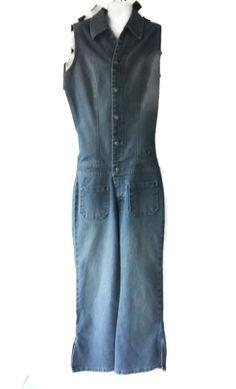 Vintage Designer Jeans Jumpsuit Sleeveless Size 0 Sergio Valente Denim  Approximate Measurements: with jumpsuit laying flat:  ARMPIT TO ARMPIT =