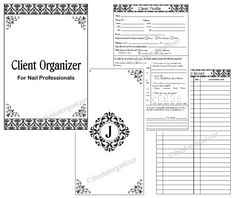 Nail Technician Manicurist Client Organizer By