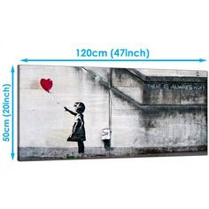 Banksy Large Canvas Prints - Girl with the Red Balloon for Dining Room