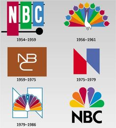 History of NBC logos | #television #NBC #logo #design
