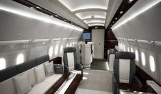 interior view of airbus a318 elite