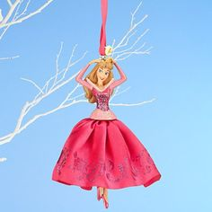 Disney 2014 Aurora Sketchbook Ornament - Sleeping Beauty - Pink