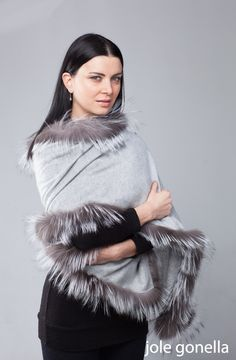 stola 100% cashmere e volpe  cashmere and fox stola