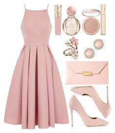 shop the look pink dress look spring look blush blush spring Modest Dresses, Trendy Dresses, Cute Dresses, Beautiful Dresses, Casual Dresses, Pink Dress Casual, Long Dresses, Yellow Dress, Prom Dresses