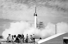 The First Rocket Launch from Cape Canaveral October 2018 via NASA A new chapter in space flight began in 1950 with the launch of the first rocket. Rocket Launch, Old World Maps, History Of Photography, First Photograph, Design Studio, Space Travel, Space Exploration, Corporate Design, Canvas Size