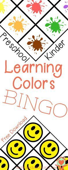 Help your little one learn their colors with this Free download Learning Colors Bingo game. Perfect for Preschoolers.via @myhomebasedlife