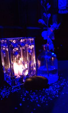 Table centerpieces from a wedding I went to on new years eve at the Stoneleigh hotel. They were unique!
