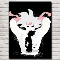 """""""Never Ever Give Up"""" Son Goku"""" Canvas Wall Art"""