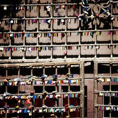Colorful lockers as symbols of #love at #Juliet's house