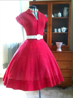 Love this red house dress!